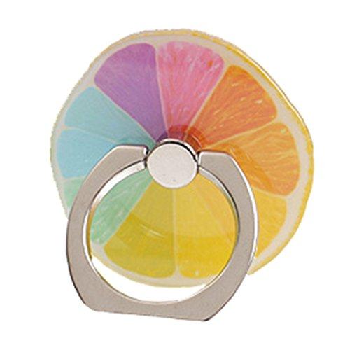 Axibi Schönheit Frucht Handy Finger Ring Halterung für mehr Grip Metallring Ständer kompatibel mit Alle Smartphones und Hüllen iPhones und Tabletten und iPads (C) - Schönheits-frucht