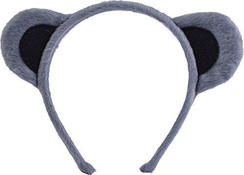 Kostüm Ohren Maus Stirnband (Erwachsene Kostüm Halloween Party Verkleidung Weihnachten Kostüm Animal Ohren Auf Haarreif - grau,)