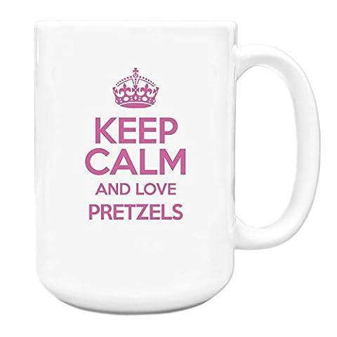 PINK Keep Calm and Love Pretzels Big 15oz Mug TXT 2850