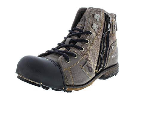Yellow Cab Herrenschuhe - Boots Industrial 15458 - Grey, Größe:47 EU
