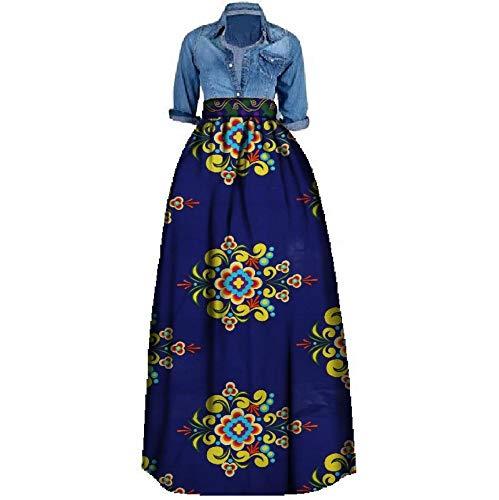 HEHEAB Split Rock Split Rock Afrikanischen Drucken Sommer Rock Für Frauen Plus Size Dashiki Afrikanische Traditionelle Kleidung Ballkleid Casual Röcke, 4XL