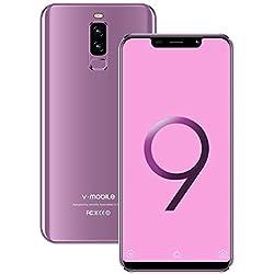 4G Telephone Portable debloqué S9+(2019) 3Go RAM + 16Go ROM Android 8.1 5,85 Pouces Dual 13MP + 5MP Caméras 4300mAh Batterie Double SIM Face ID Telephone Portable Pas Cher (Purple)