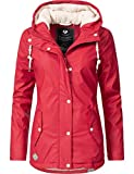 Ragwear Damen Mantel Wintermantel Regenmantel Marge Chili Red0818 Gr. L