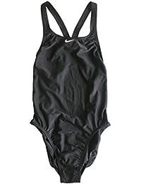 4bc4fa17f08f3 Nike Damen Fast Back Badeanzug Athletic Einteiler Badeanzug (Black White)