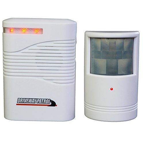 Alarme avec détecteur de passage sans fil, avec batterie, pour l'intérieur et l'extérieur