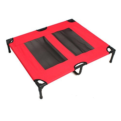 Haustier camping Bett atmungsaktive Sommermöbel liefert faltbare Höhle Oxford Tuch großes Haustier Nest ( Farbe : Pink , größe : Xl )