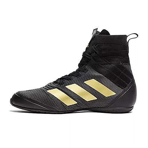 adidas Speedex 18, Scarpe da Boxe Uomo, Nero Schwarz/Gold, 42 2/3 EU