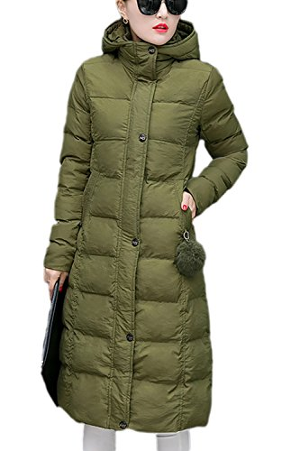 Élégant Hoodie laine vêtements manteau des femmes avec poches Armygreen