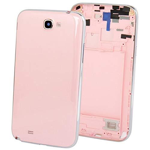 Pink Full Housing (GANSHUIHE Ersatzteile für Mobiltelefone Full Housing Chassis mit rückseitiger Abdeckung + Lautstärketaste for Galaxy Note II / N7100 (Pink) Rückseite des Telefons Handys Zubehör Ersatzteile)