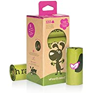 Earth Rated – Biodegradable Pooh Bags – Dog Waste Bags – Lavender Scented – Completely Leak Proof – 15 Waste Bags Per Roll – 23 x 33 cm– 120 Bags