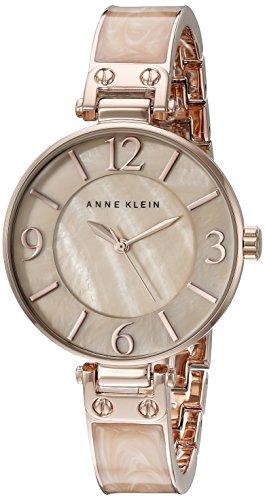 Anne Klein Femme AK/2210bmrg Couleur Or Rose et Rose marbré Bracelet Montre