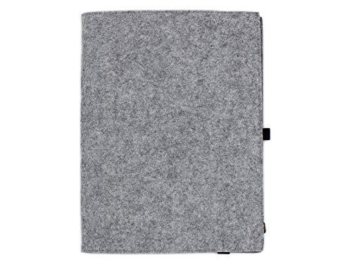 Edles Filz Notizbuch in graumeliert, A4 kariert 50 Seiten Notizblock, edler Business Einband oder Umschlag als Hefteinband oder Hülle geeignet