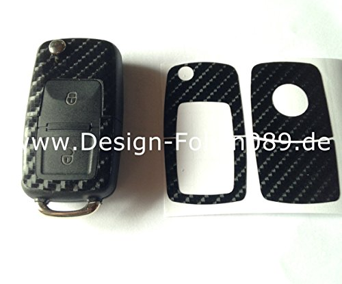 carbon-film-noir-brillant-motif-cles-key-vw-t4-par-beetle-passat-polo-volkswagen-golf-4-5-g-6-iv-bor