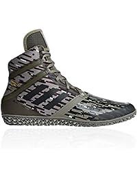 newest f3b2a d4223 adidas , Chaussures de Catch pour Homme - Vert - Cargo, 42 EU