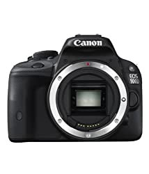 Canon EOS 100D 18MP Digital SLR Camera (Black), with Body Only, SD Card, Camera Bag