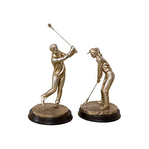 bmanueller Harz Golfer Männer Und Frauen EIN Paar Kreative Handwerk Wiegen über 2,2 kg Für Wohnzimmer Studie Schlafzimmer Weinschrank ()