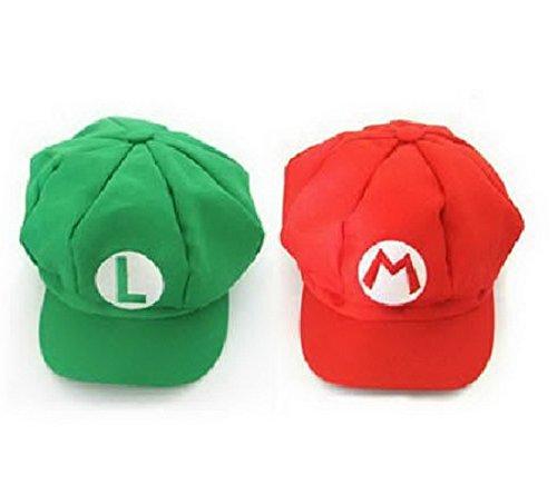 KXR Super Mario Bros Unisex Hat Cap Mario Luigi Cosplay (Mario Bros Y Luigi Kostüm)