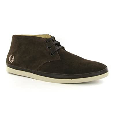 Fred Perry Chandler Suede Chocolate Mens Boots Size 39 EU