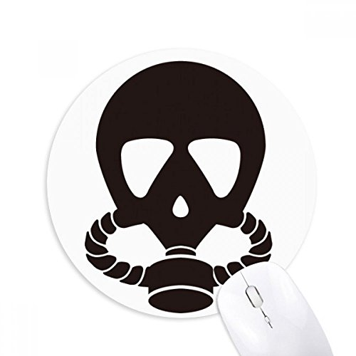 Menschliches Skelett Gas Maske Umweltverschmutzung rund rutschfeste Gummi Mauspad Spiel Büro Maus Pad Geschenk