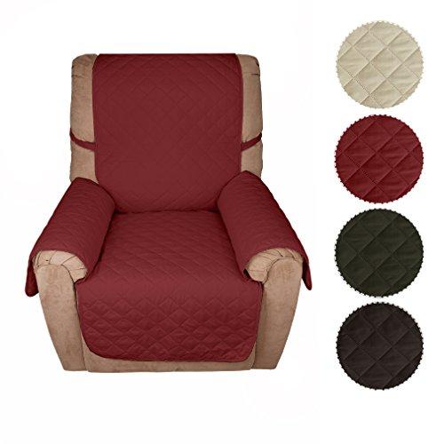Kinlo copridivano 1-posto (177*56cm) vino rosso copripoltrona imbottito copertura trapuntato per sedia matte fodera per gli animali domestici anti-graffio antifouling divano di protezione