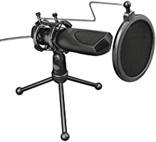 Trust Gaming GXT 232 Mantis USB Streaming Microfoon (Microphone voor Streamen, Gaming, Podcasten met Popfilter en Tripod...