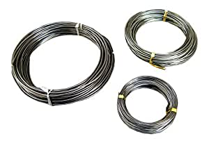 FITOOL 150Feet Anodized Aluminium Bonsai Training Wire 3-Size Starter Set (1 , 1.5 , 2.0 mm, Each 50 ft, Black)