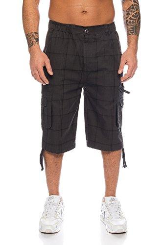Kendindza uomo pantaloni corti pantaloncini da tempo bermuda cargo short-s m - 4xl (grigio (330), xxxxl)