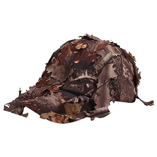 Syeytx Tactical Military Cap Hüte Mit Bionic Leaf Camo Hunting Simulierte Blätter Hut Jungle Cap (Oma Kostüme Irland)