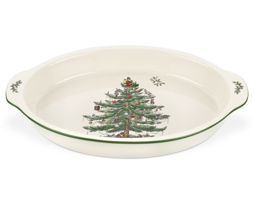 Spode Weihnachtsbaum Christmas Tree Au Gratin Dish 14 Inch mehrfarbig Au Gratin Dish