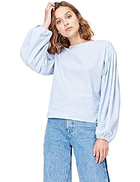 FIND Camisa con Manga Abullonada Para Mujer