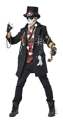 Voodoo Dude Adult Costume, Medium, Black