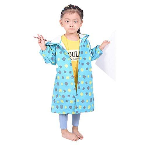 Guyuan Kinder Regenmantel Mädchen Kindergarten Jungen Baby Regen Stiefel Set Grundschüler 2-6 Jahre alt Jungen 1-3 Jahre alt Mantel Regenmantel (Color : Blue, Size : XL) (Burberry Stiefel Regen)