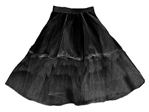 Preisvergleich Produktbild Petticoat aus Stoff & Tüll für Kinder 40 cm schwarz