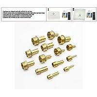 "4 mm 6 mm 8 mm 10 mm 12 mm 14 mm 16 mm 19 mm 20 mm 25 mm Manguera Barb x 1/8 '' 1/4 '' 3/8 '' 1/2 '' 3/4 '' 1 '' Conector de montaje de tubo de latón BSP macho,1/8"", 4 mm"