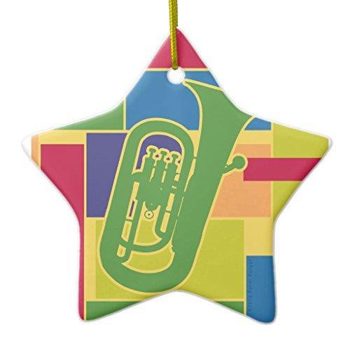 Ornamente für Weihnachtsbaum Euphonium colorblocks Ornament STAR DEKO Ornament, zum Aufhängen Xmas Geschenk