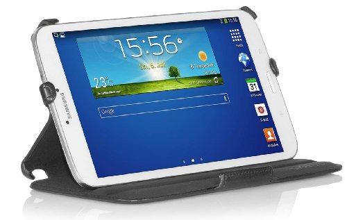 StilGut UltraSlim Case, Tasche mit Stand- & Präsentationsfunktion kompatibel mit Samsung Galaxy Tab 3 8.0, schwarz