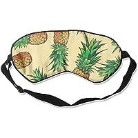 Watercolor Pineapple Natural Silk Sleep Mask Comfortable Smooth Blindfold for Travel, Relax preisvergleich bei billige-tabletten.eu