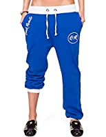 24brands Damen Sporthose Fitnesshose Sweathose Jogginghose Freizeithose Laufhose Trainingshose Tanzhose Sweatpants mit Print - 1061