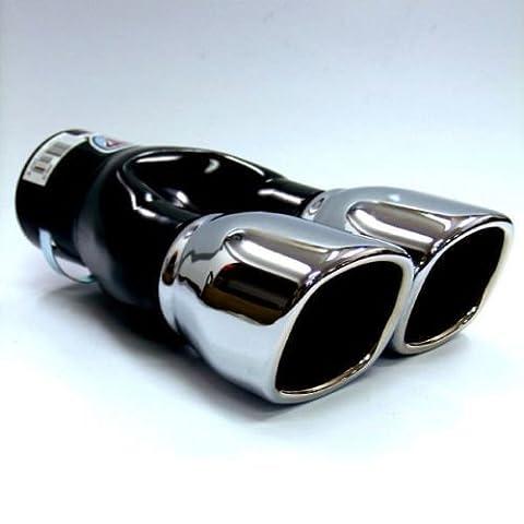 Universal Car Twin Exhaust Pipes Muffler Trim (Scarico Universale Kit)