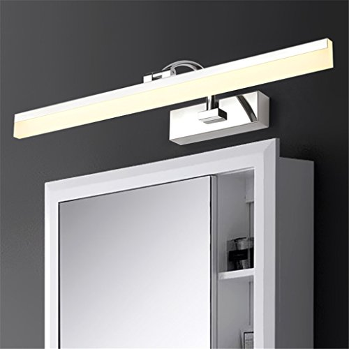 Keine 70 Twin Pack-licht (LIYONGDONG® Spiegellicht Spiegelschrank Licht Wandlampen Make-up-Lampe Bad LED Rostfreier Stahl Wasserdicht Europäischer Stil Modern Einfach Anti Nebel Spiegelleuchten,70cm)