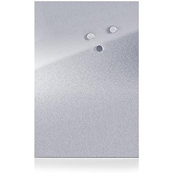 Zeller 11120 Tableau Magnétique Inox 40 x 60 cm
