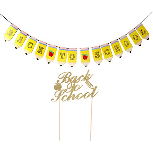 ol Thema Party Banner Cake Topper Schulsammlung Lieferungen Dekoration ()