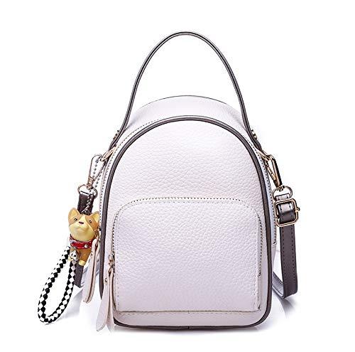Frauen - umhängetasche Mini - trendy, weiches Leder kleine Tasche Mode - Freizeit - Single Schulter schrägen kleinen Rucksack schwarz,weiße