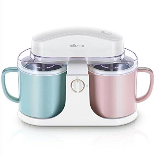 DZW Ice Cream Maker, Sorbet & Frozen Joghurt Machine, 1 l Doppel Large Fassungsvermögen Rosa und blauQualität