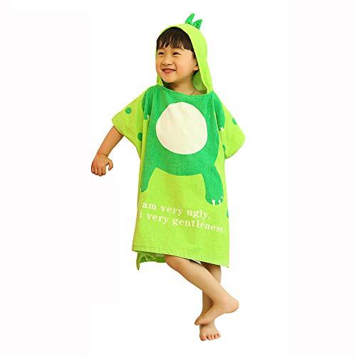 817265c4b7c8d serviette de bain pour Enfants Cape 100% Coton Serviette à Capuchon de  Dinosaure Peignoir bébé