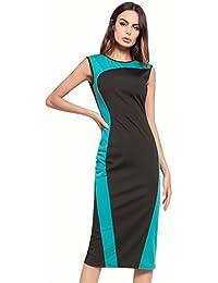 Easy Go Shopping Vestido de Mujer Vestido de Retazos de Verano Vestidos de Fiesta con Cuello