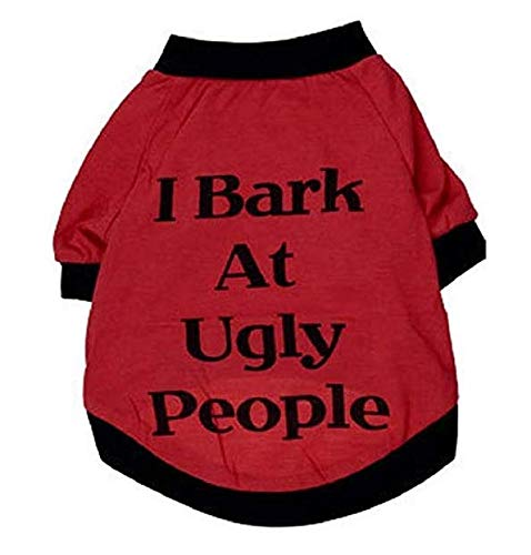 Menschen Kostüm Und Für Hunde Katze Den - Hawkimin Hunde Klamotten Menschen Hund Katzen Kleidung Sommer Ich bellen bei hässlichen Print T Shirt Sweatshirt für Haustiere Welpen Kleine Große Hunde