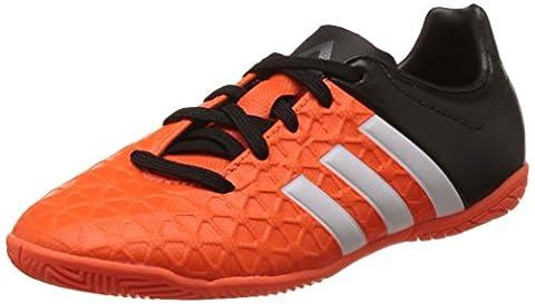 adidas Performance ACE15.4 IN Jungen Fußballschuhe, Orange (Solar Orange/Ftwr White/Core