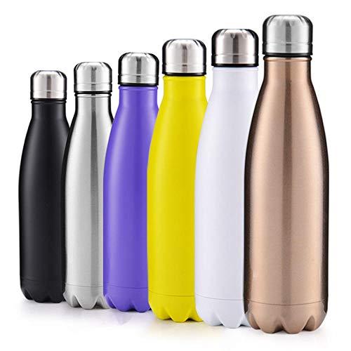 XLLX Reisebecher, 304 tragbarer Edelstahlkessel, Sportflasche, Wiederverwendbare Wasserflasche, Yoga, Camping, Sport, Outdoor@Blue_750ml