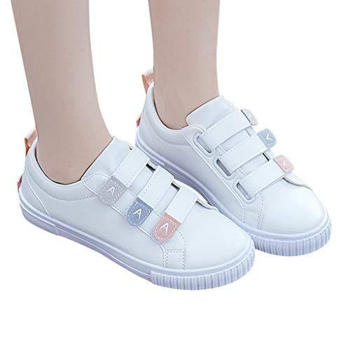 Ncenglings Damen Sneakers Mode Weiße Mädchen Schuhe Solide Sportschuhe Sport Studentenschuhe Casual Gummi Laufschuhe Elegant Turnschuhe Atmungsaktive Sportschuh Freizeitschuhe -